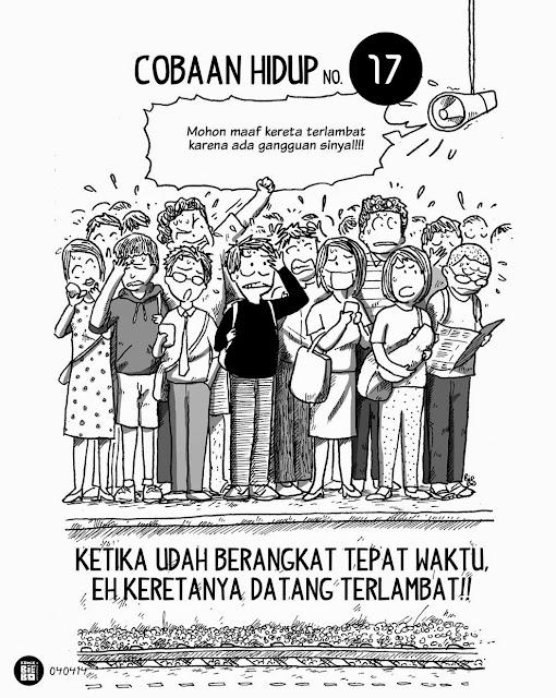 komik strip lucu krl commuter line jabodetabek