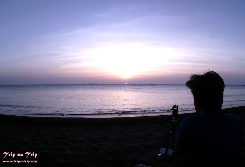 Black Sand Resort of Batangas - Dramatic Beautiful Sunset View