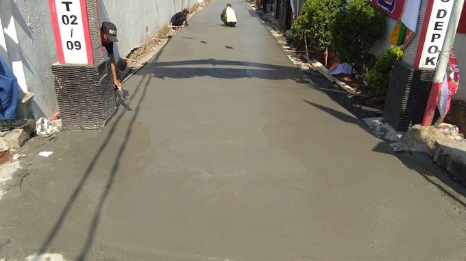 TMMD, Betonisasi Jalan Swadaya Sudah 90 Persen