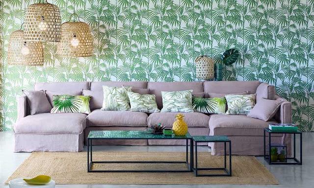 papel pared de palmeras