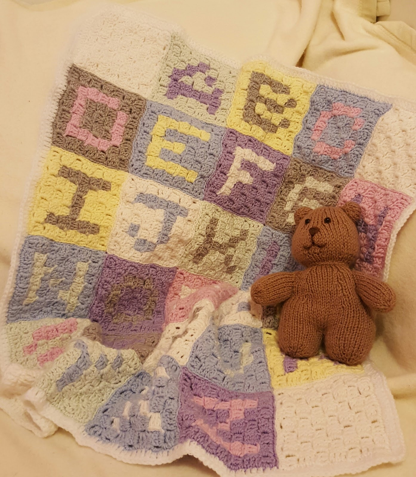 Owl In Stitches: Alphabet Baby Blanket - Free Crochet Pattern