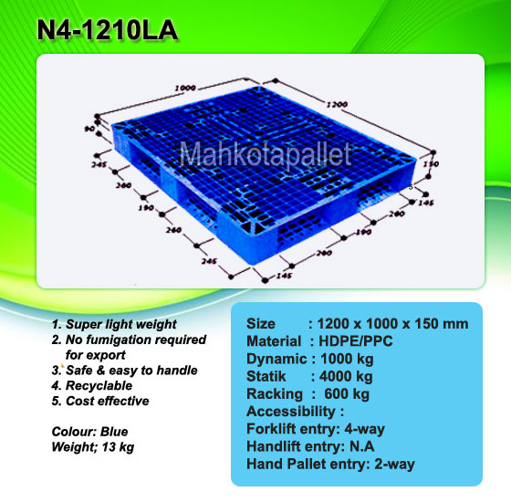 Jual Pallet Plastik N4-1210 LA Dark Blue