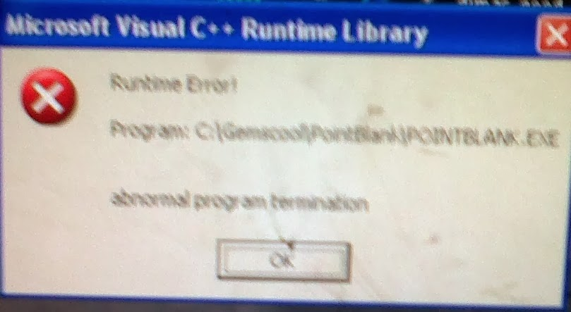 Microsoft Visual C++ Runtime Error Library