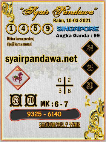 Gambar Syair Pandawa Sgp rabu 10 maret 2021