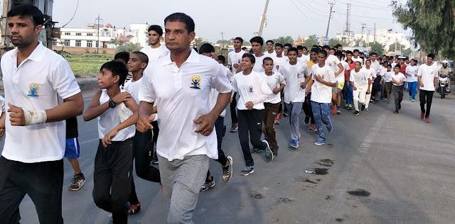 Yoga marathon race organized, ran across Palwal city