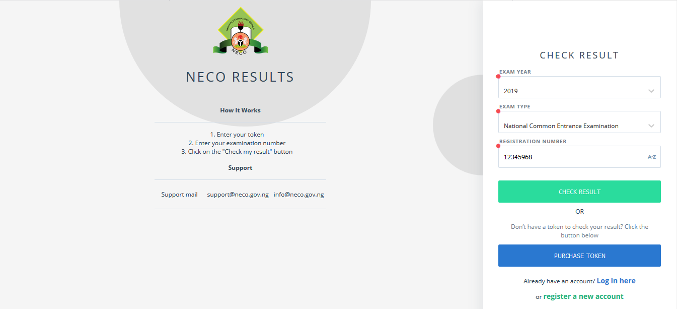 2020/2021 NECO Common Entrance Exam Result Checker [PHOTOS]