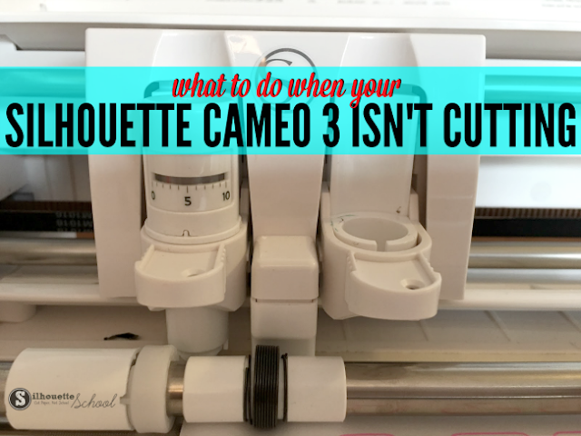 Silhouette not cutting, Silhouette, Silhouette Cameo tutorial beginner, troubleshooting, not cutting, ratchet blade