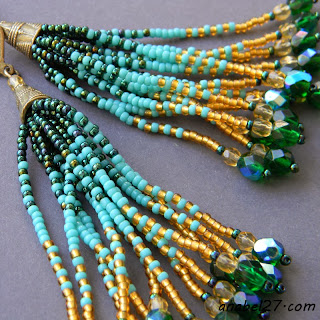 seed bead earrings fringe earrings beaded jewelry long boho style