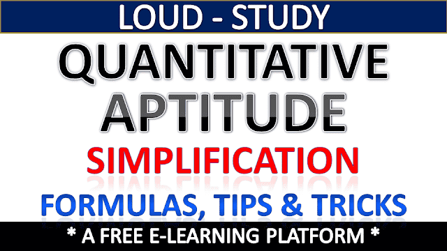 Basic Simplification Rules for Competitive Exams