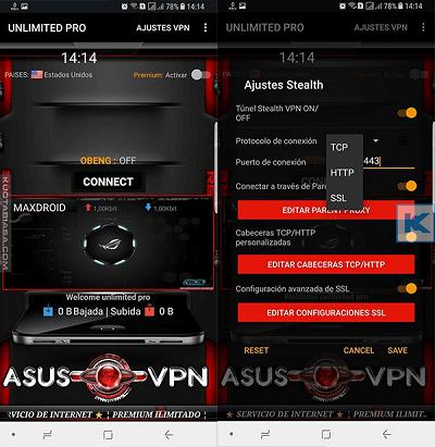 Asus VPN (Unlimited Pro)