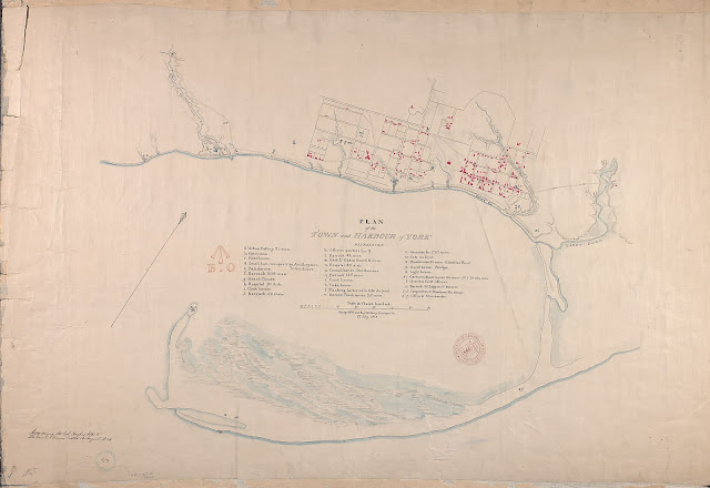 1814  Plan of the town and harbour of York (Toronto), George Williams