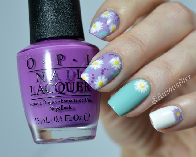 simple spring flowers florals nails tutorial pastels daises