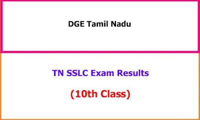 TN SSLC Exam Results