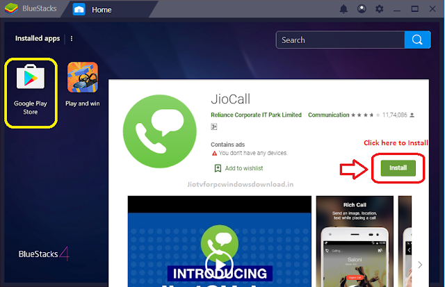 jiocall app for windows pc