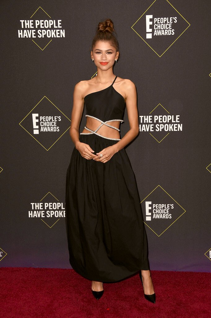 Zendaya arrives at the 2019 People's Choice Awards, Los Angeles