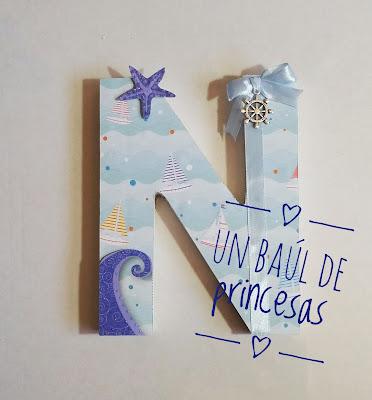 Letra decorada N de Noan