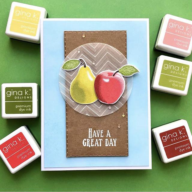 Sunny Studio Stamps: Fruit Cocktail Customer Card by Marina Kosorukova