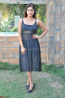 Pragya Nayan New Fresh Telugu Actress Stunning Transparent Black Deep neck Dress ~ Exclusive Galleries