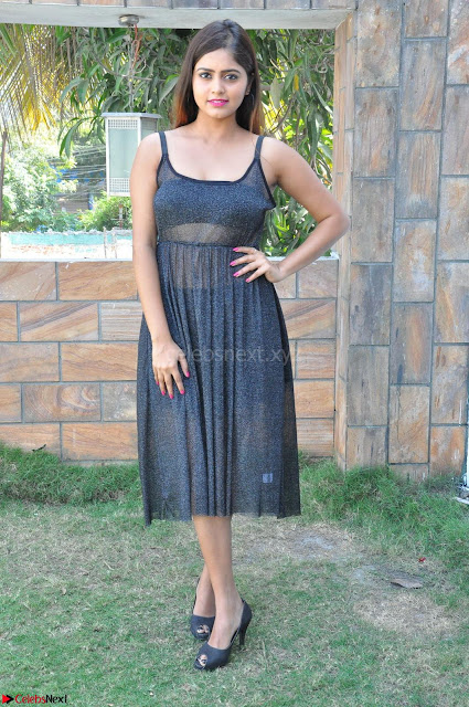 Pragya Nayan New Fresh Telugu Actress Stunning Transparent Black Deep neck Dress ~  Exclusive Galleries 001.jpg