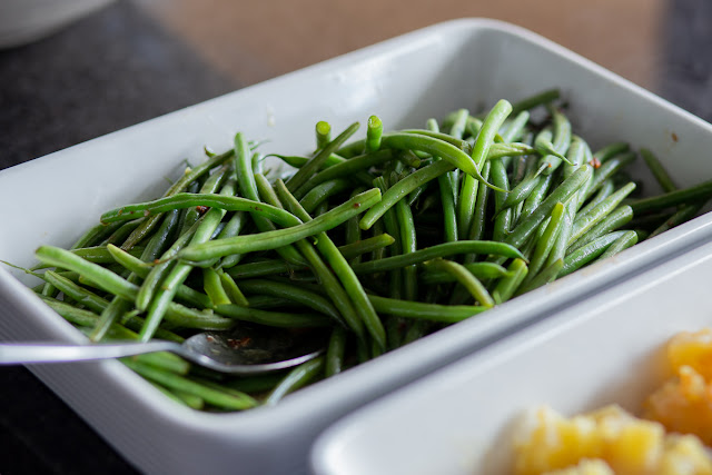 Cooked Green Beans Close-Up Photography