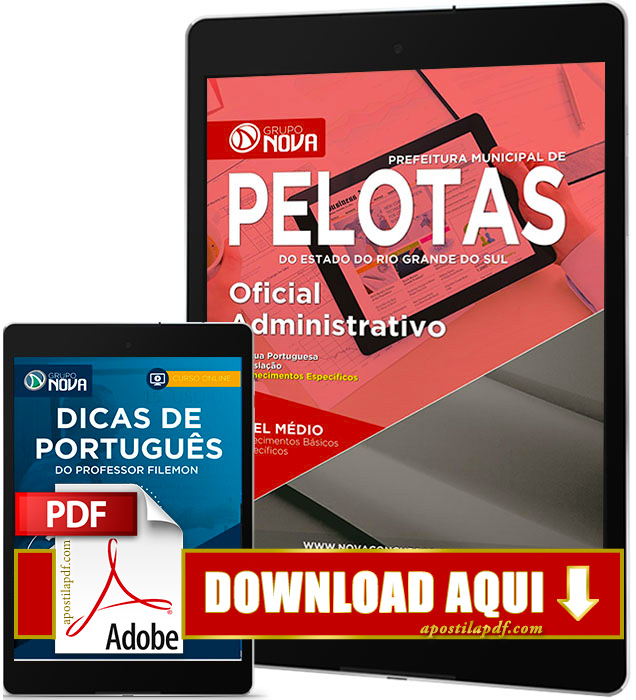 Apostila Prefeitura de Pelotas RS 2017 PDF Download Oficial Administrativo Grátis Curso Online