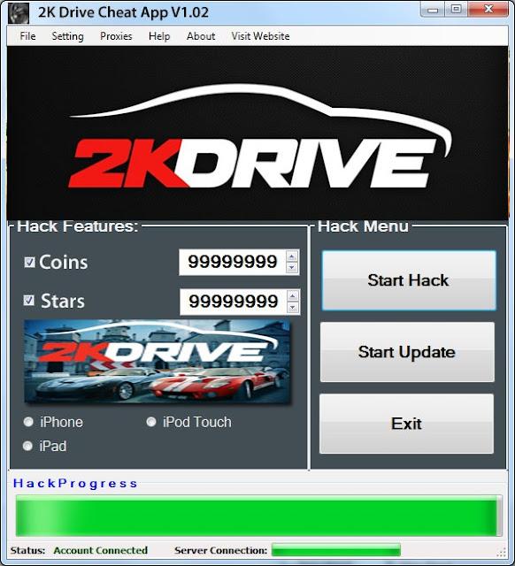 2K Drive Hack Cheats Tool For iOS Free Coins & Stars No Survey