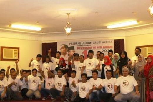 TKI Madinah Deklarasi Dukung Jokowi-Ma'ruf