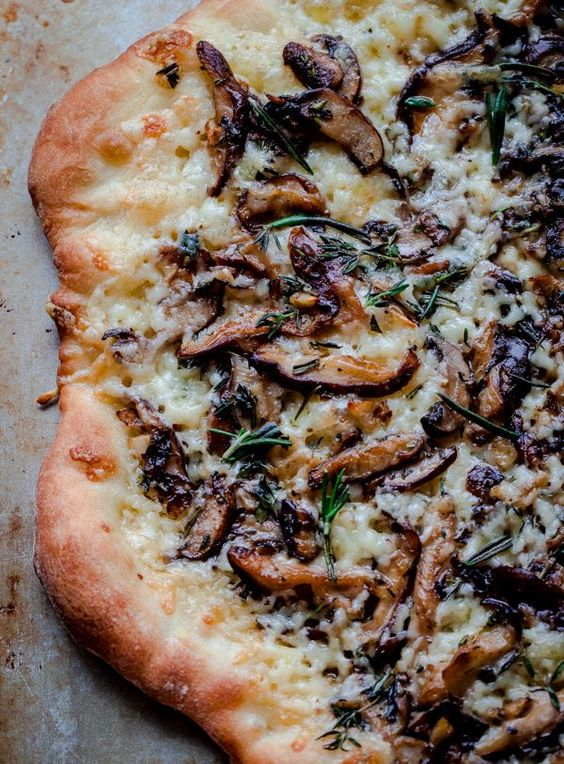 MUSHROOM PIZZA WITH HAVARTI CHEESE, FRESH HERBS, AND WHITE TRUFFLE OIL #recipes #pizza #pizzarecipe #food #foodporn #healthy #yummy #instafood #foodie #delicious #dinner #breakfast #dessert #lunch #vegan #cake #eatclean #homemade #diet #healthyfood #cleaneating #foodstagram