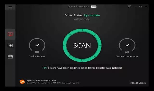 تحميل اقوي برنامج جالب للتعريفات درايفر بوسترIOBIT Driver Booster Pro Key 7.6.0.768 مفعل مدي الحياة