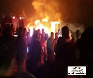 حريق فى ماسورة بترول فى عزبة المواسير  مركز إيتاى البارود - بمحافظة البحيرة