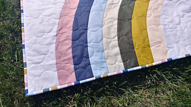 Bundle of Joy rainbow baby quilt by Slice of Pi Quilts