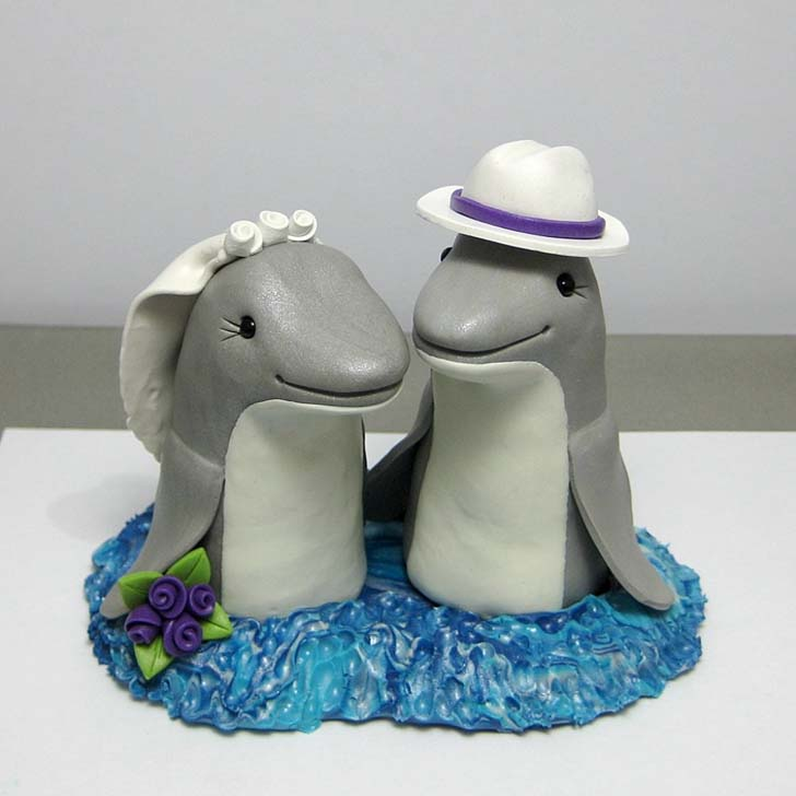 Dolphin Wedding Cake Toppers Topper Decor Picture For Parties