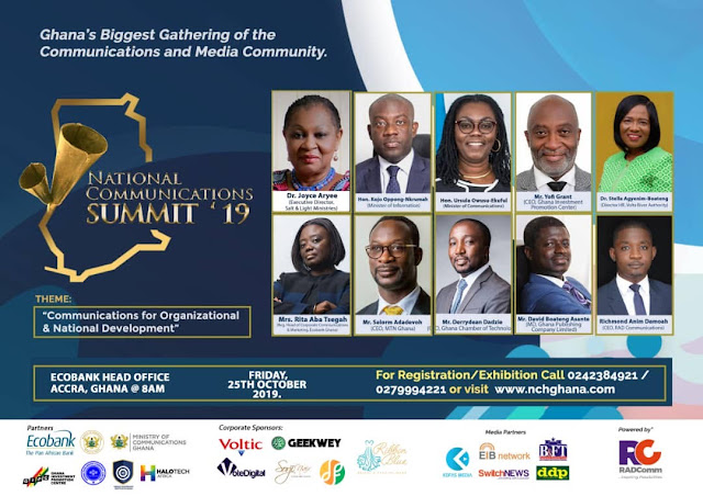 THE YCEO: Dr. Joyce Aryee leads Communications experts for the maiden National Communications Summit 2019