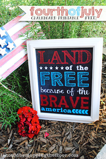 Free Fourth of July Chalkboard Printable #freeprintable #fourthofjuly
