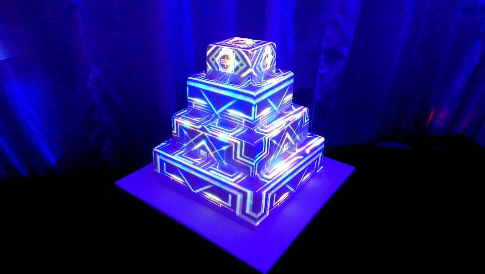 Video Mapping On Wedding Cake Sonal J Shah Event