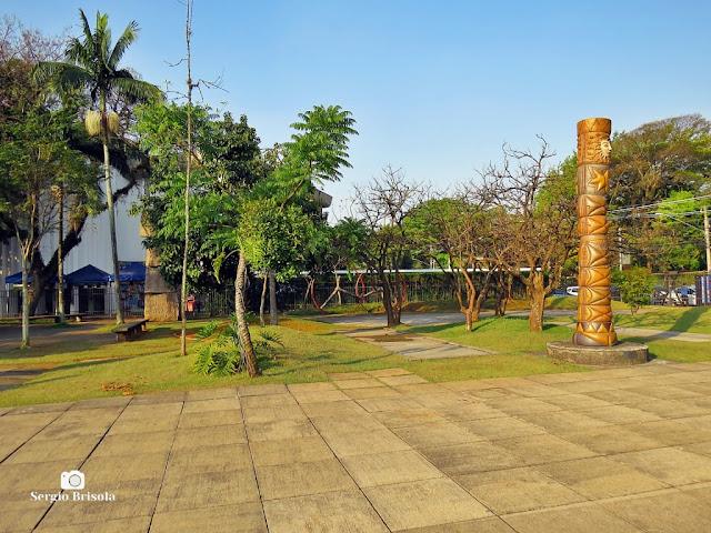 Vista de parte do projeto de Paisagismo de Burle Marx no MuBE - São Paulo