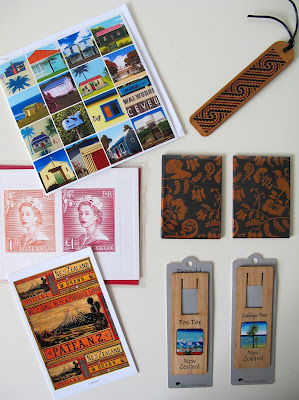 Various cards, bookmarks and magnets with designs that could be used in miniature scenes.