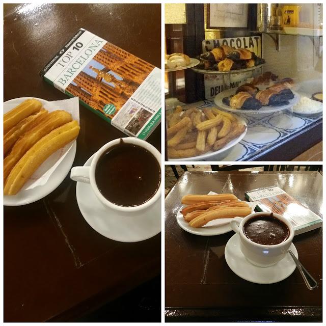Onde comer churros com chocolate ou crema catalana em Barcelona? Granja Dulcinea