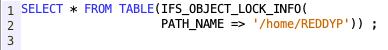 IFS Object locks from SQL - IBM i