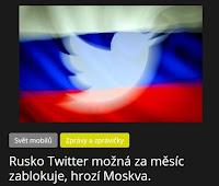 Rusko Twitter možná za měsíc zablokuje, hrozí Moskva. - AzaNoviny