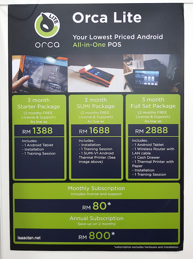 Orca Lite packages and subscription costs
