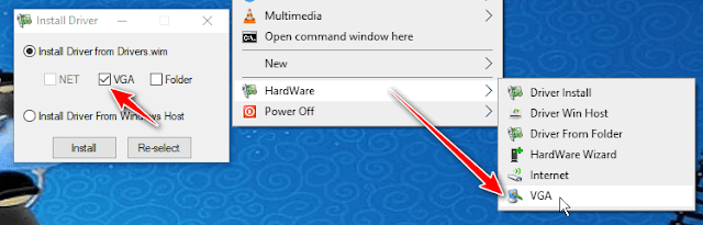 How to install VGA Driver for WinPE