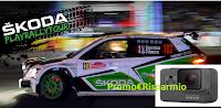Logo ''Škoda PlayRally 2018'' : vinci gratis GoPro Hero5, giochi PS4 e Zaini Skoda Motorsport