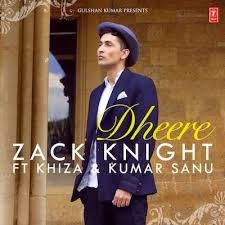 Lyrics Dheere Zack Knight Ft Khiza & Kumar Sanu