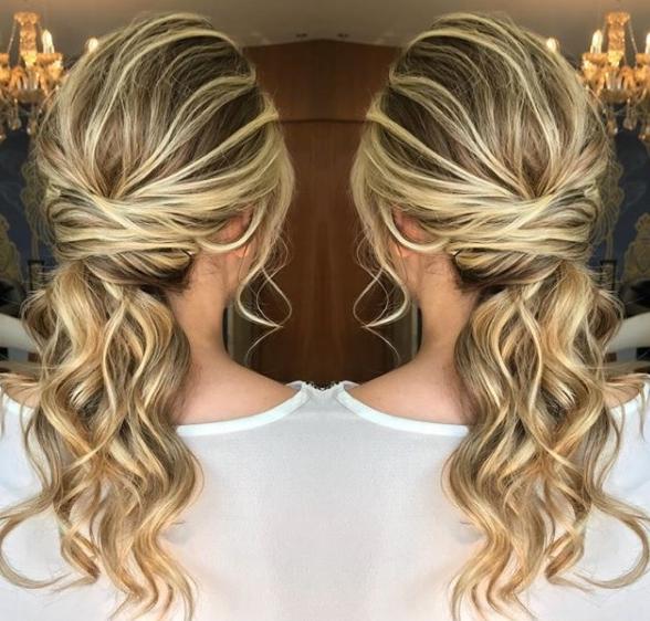 semi preso ponytail