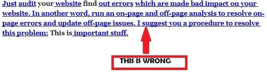 wrong internal linking