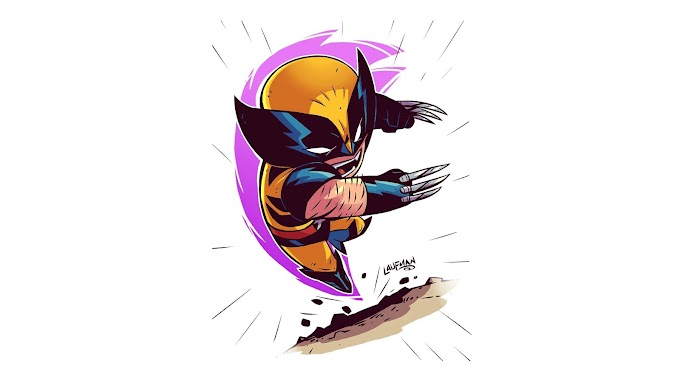 Papel de Parede Minimalismo Wolverine