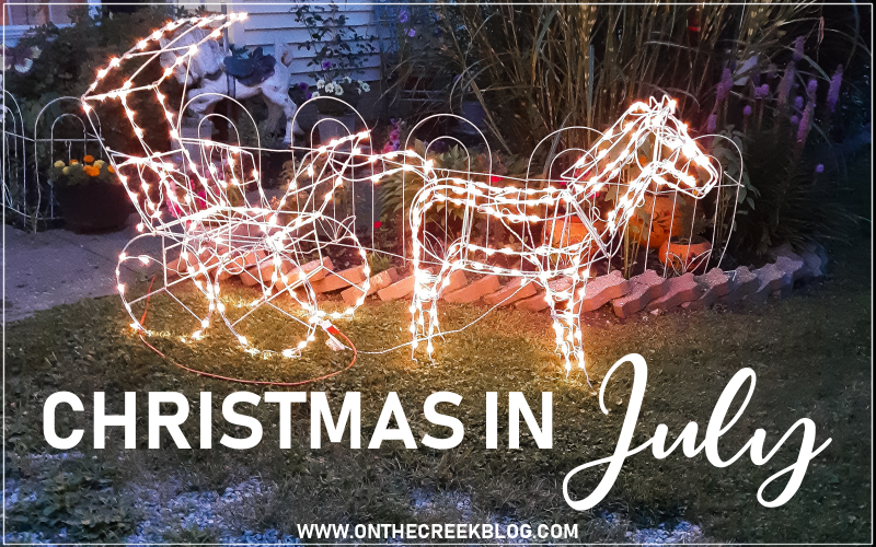 Christmas in July happened for me when I got these free Christmas decorations! | On The Creek Blog