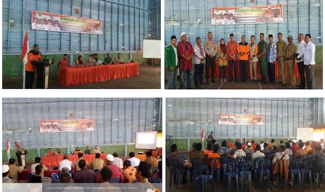 Pemerintah Kecamatan Pulau Merbau  Melaksanakan   Rapat serta Sosialisasi Terkait Permasalahan Pencegahan dan Penanggulangan Bencana