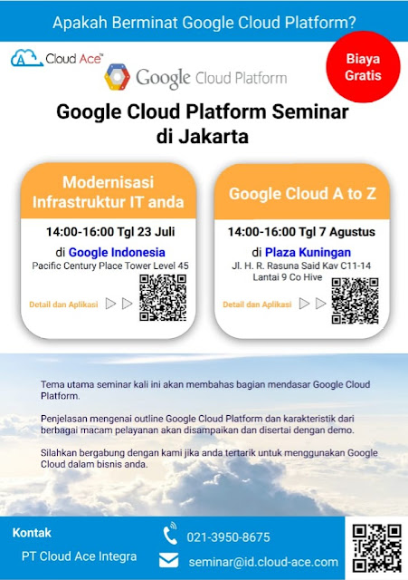 Google Cloud Platform Seminar di Jakarta